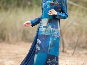 集朴实华丽低调于一身的印花旗袍